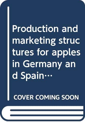 Production and marketing structures for apples in: Organisation for Economic