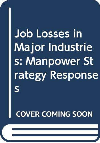 9789264124080: Job Losses in Major Industries: Manpower Strategy Responses