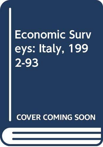 9789264140547: Economic Surveys: Italy, 1992-93