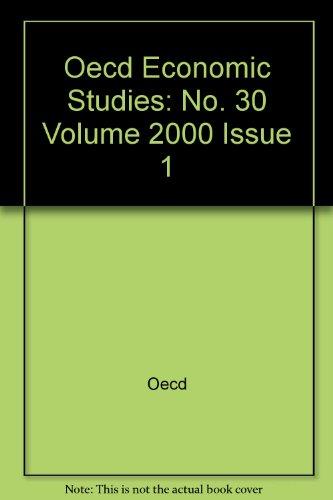 Oecd Economic Studies: No. 30 Volume 2000 Issue 1: Oecd