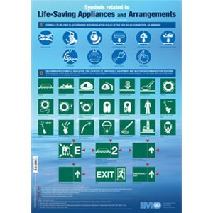 Poster: Life-Saving Appliances Symbols, IB981E: IMO Publishing