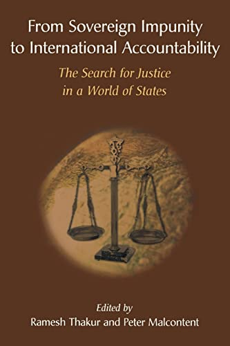 9789280811001: From Sovereign Impunity to International Accountability: The Search for Justice in a World of States