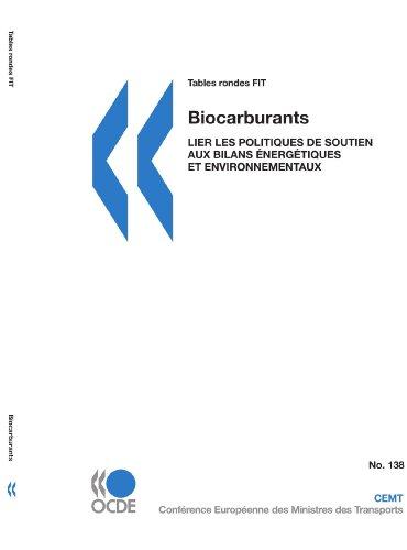 Tables Rondes Fit No. 138 Biocarburants: Lier Les Politiques de Soutien Aux Bilans Nergtiques Et ...