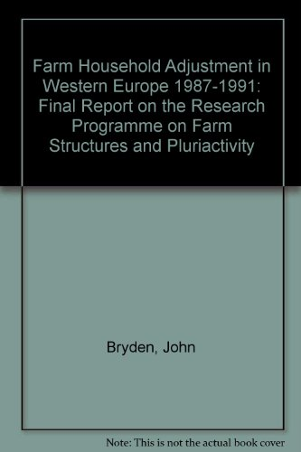 9789282669112: Farm Household Adjustment in Western Europe 1987-1991: Final Report on the Research Programme on Farm Structures and Pluriactivity
