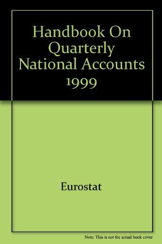 9789282872598: Handbook on Quarterly National Accounts 1999