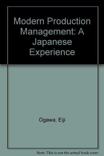 9789283310723: Modern Production Management: A Japanese Experience