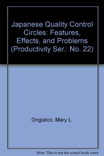 Japanese Quality Control Circles : Features, Effects,: Mary L. Onglatco