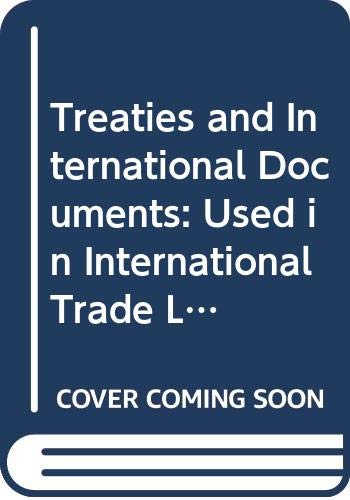 9789284213535: Treaties and International Documents: Used in International Trade Law No. 958