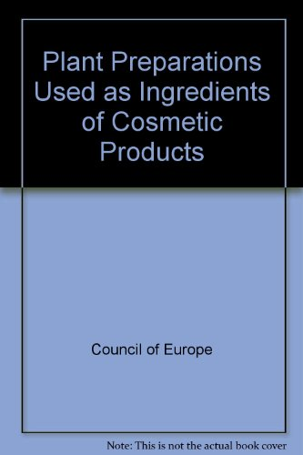 9789287116895: Plant Preparations Used as Ingredients of Cosmetic Products