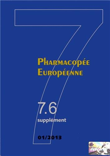 9789287172235: Pharmacopée Européenne : 3 volumes, suppléments 7.6, 7.7 et 7.8