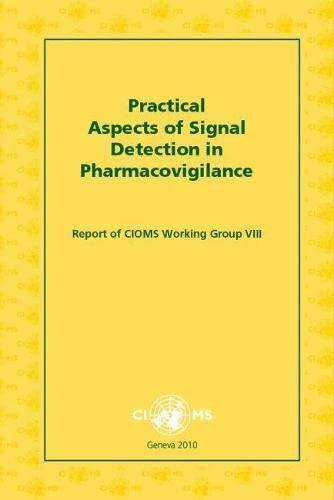 9789290360827: Practical Aspects of Signal Detection in Pharmacovigilance: Report of CIOMs Working Group VIII