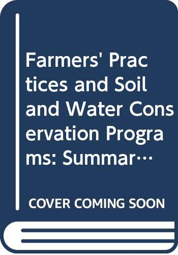 Farmers' Practices and Soil and Water Conservation: J. M. Kerr