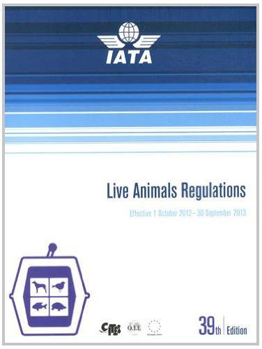 9789292338459: Live Animals Regulations : Effective 1 October 2012 - 30 September 2013