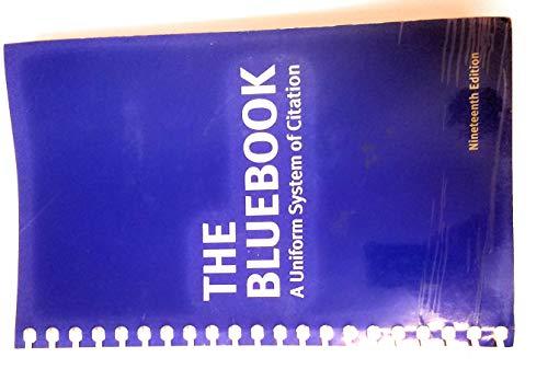 Bluebook Uniform System of Citation: Author