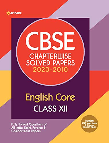CBSE English Core Chapterwise Solved Papers Class