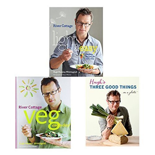 9789325954090: Hugh Fearnley-Whittingstall Collection 3 Books Bundle (River Cottage Light & Easy: Healthy Recipes for Every Day, River Cottage Veg Every Day! (River Cottage Every Day), Hugh's Three Good Things)