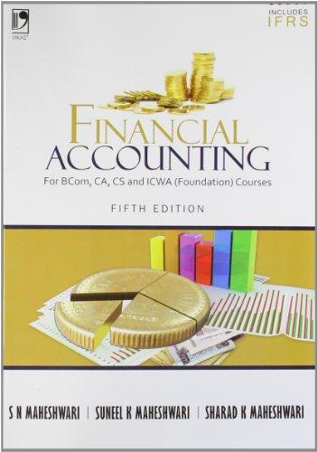 Financial Accounting: For BCom, CA, CS, &: S N Maheshwari,S