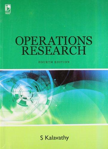 Operation Research 4/Ed: Kalavathy