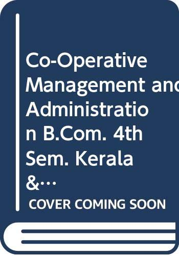Corporative Management and Administration B.Com. 4th Sem.: Nair K.M.