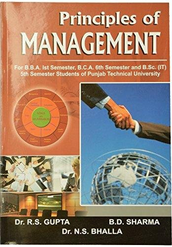 Principles and Practice of Management (RTU) MBA: Gupta R.S., Sharma
