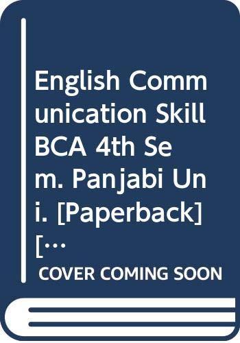 English Communication Skill BCA 4th Sem. Panjabi: Arora Abhishek