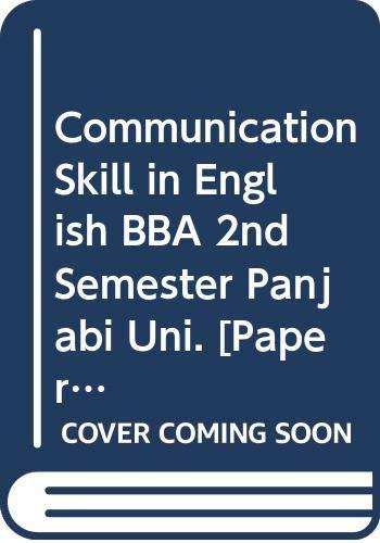 Communication Skill in English BBA 2nd Semester: Arora Abhishek