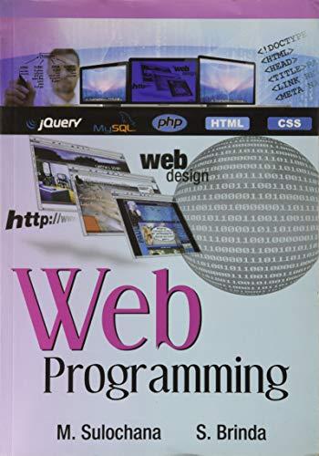 Web Programming: Sulochana M., Brinda