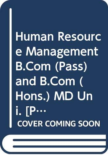 Human Resource Management B.Com (Pass) and B.Com: Gupta Shashi K.,