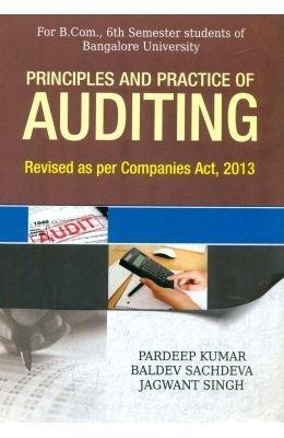 Principles and Practices of Auditing B.Com 6th: Pradeep Kumar, Sachdeva