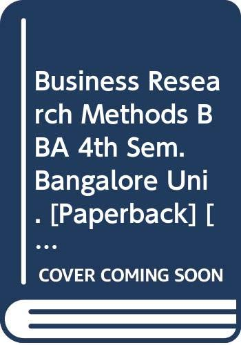 Business Research Methods BBA 4th Sem. Bangalore: Pasha Mohammed Farooq,