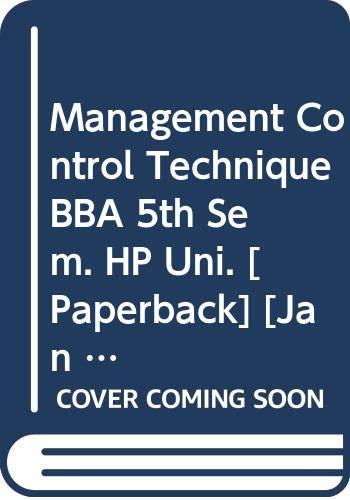 Management Control Technique BBA 5th Sem. HP: Sharma R.K., Gupta