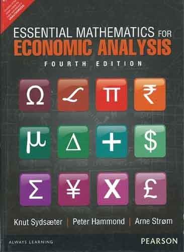 9789332517394: Essential Mathematics for Economic Analysis