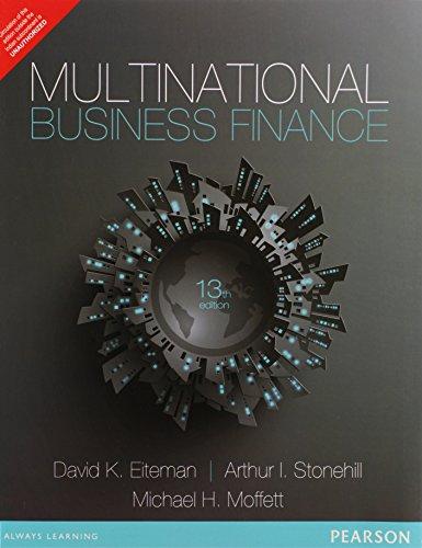 9789332518193: Multinational Business Finance (EDN 13) by David K. Eiteman,Arthur I. Stonehill