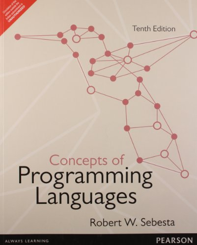 Concepts Of Programming Languages 10Th Edition: Sebesta, Robert W.