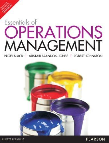 9789332519473: Essentials Of Operations Management