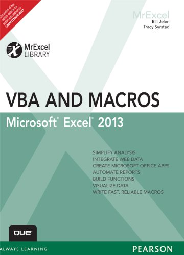 9789332523937: Excel 2013 VBA and Macros, 1/e