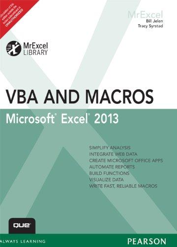 Excel 2013 VBA and Macros, 1/e: Jelen, Bill