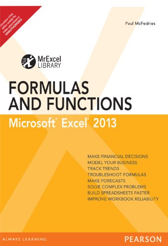 9789332524026: Excel 2013 Formulas and Function