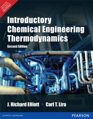 9789332524040: Introductory Chemical Engineering Thermodynamics 2nd By J. Richard Elliott (International Economy Edition)