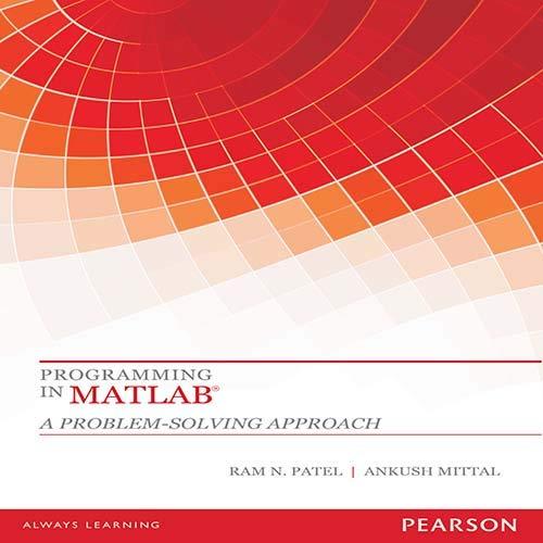 Programming In Matlab ?: Patel / Mittal