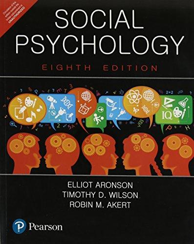 Social Psychology, 8Th Edition: Aronson, Elliot