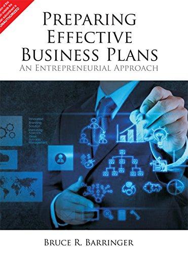 9789332536593: Preparing Effective Business Plans - An Entrepreneurial Approach