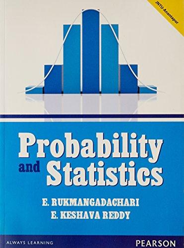 Probability and Statistics: E. Rukmangadachari,E. Keshava