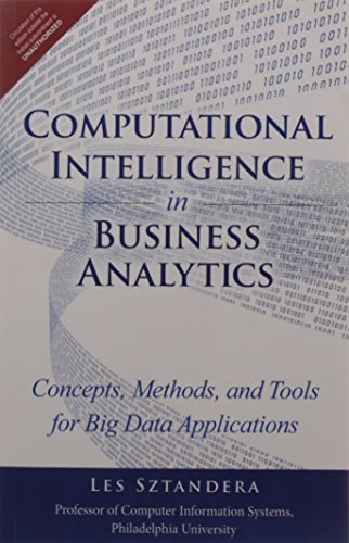 9789332540354: Computational Intelligence in Business Analytics: Concepts, Methods, and Tools for Big Data Applications