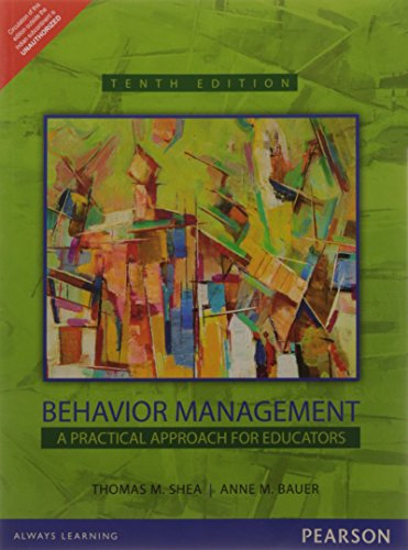 9789332543218: Behavior Management : A Practical Approach for Educators