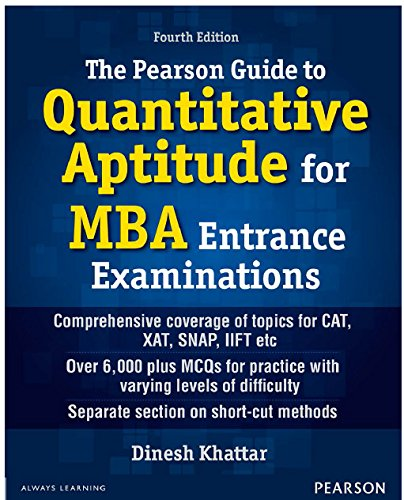 Pearson Guide To Quantitative Aptitude For Mba: Dinesh Khattar
