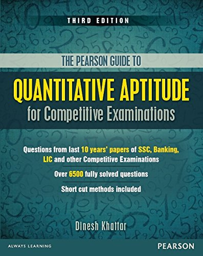 Pearson Guide To Quantitative Aptitude For Competitive: Dinesh Khattar