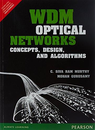 9789332549333: WDM Optical Networks: Concepts Design an