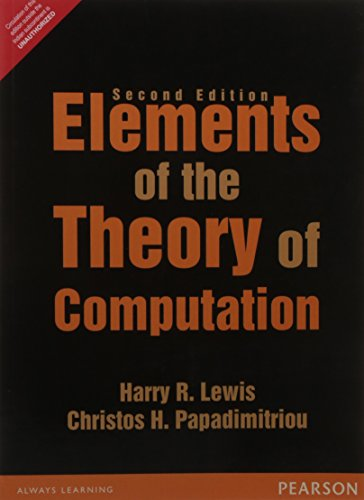 9789332549890: Elements Of The Theory Of Computation, 2Nd Edition