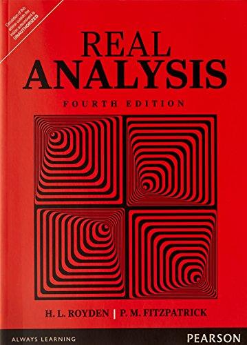 royden fitzpatrick - real analysis - Books - AbeBooks